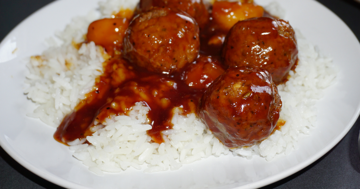 Vegetarian Pineapple Meatballs