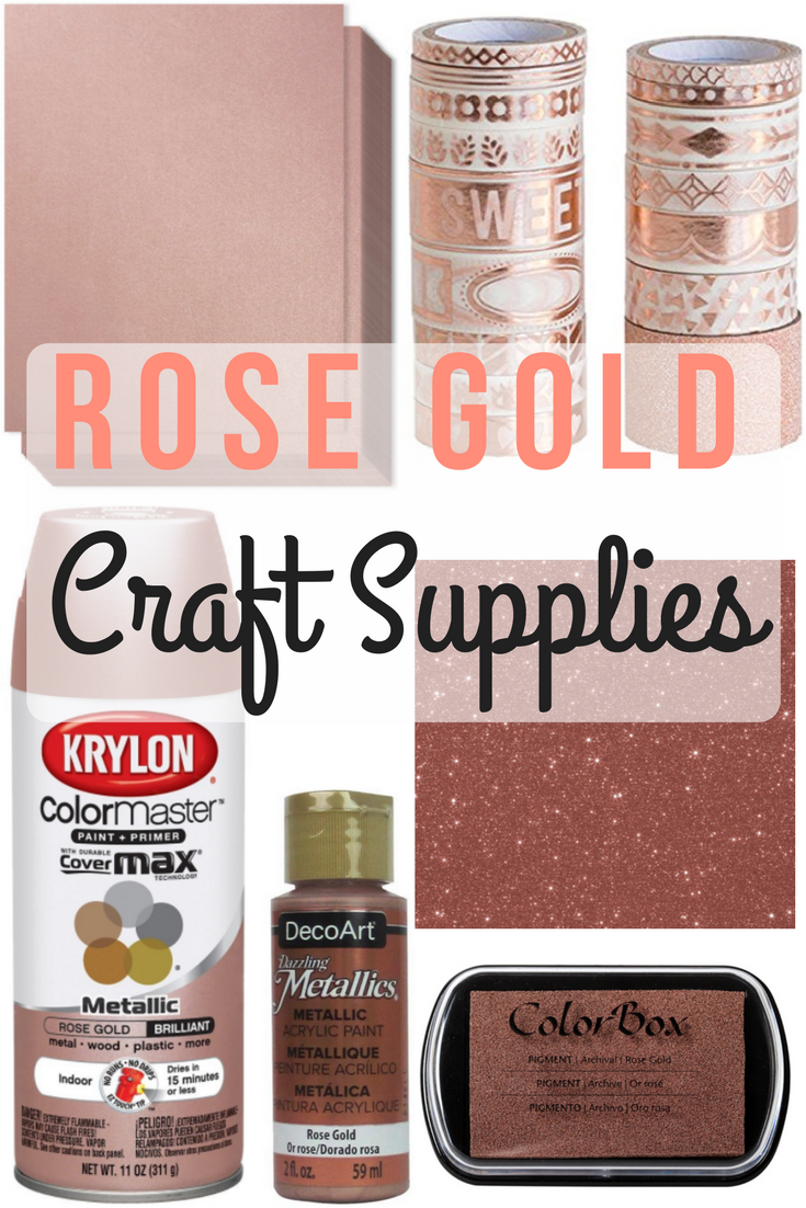Swoonworthy Rose Gold Craft Supplies on Amazon