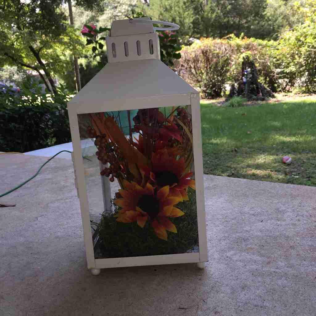 Dollar Tree Fall Lantern Craft