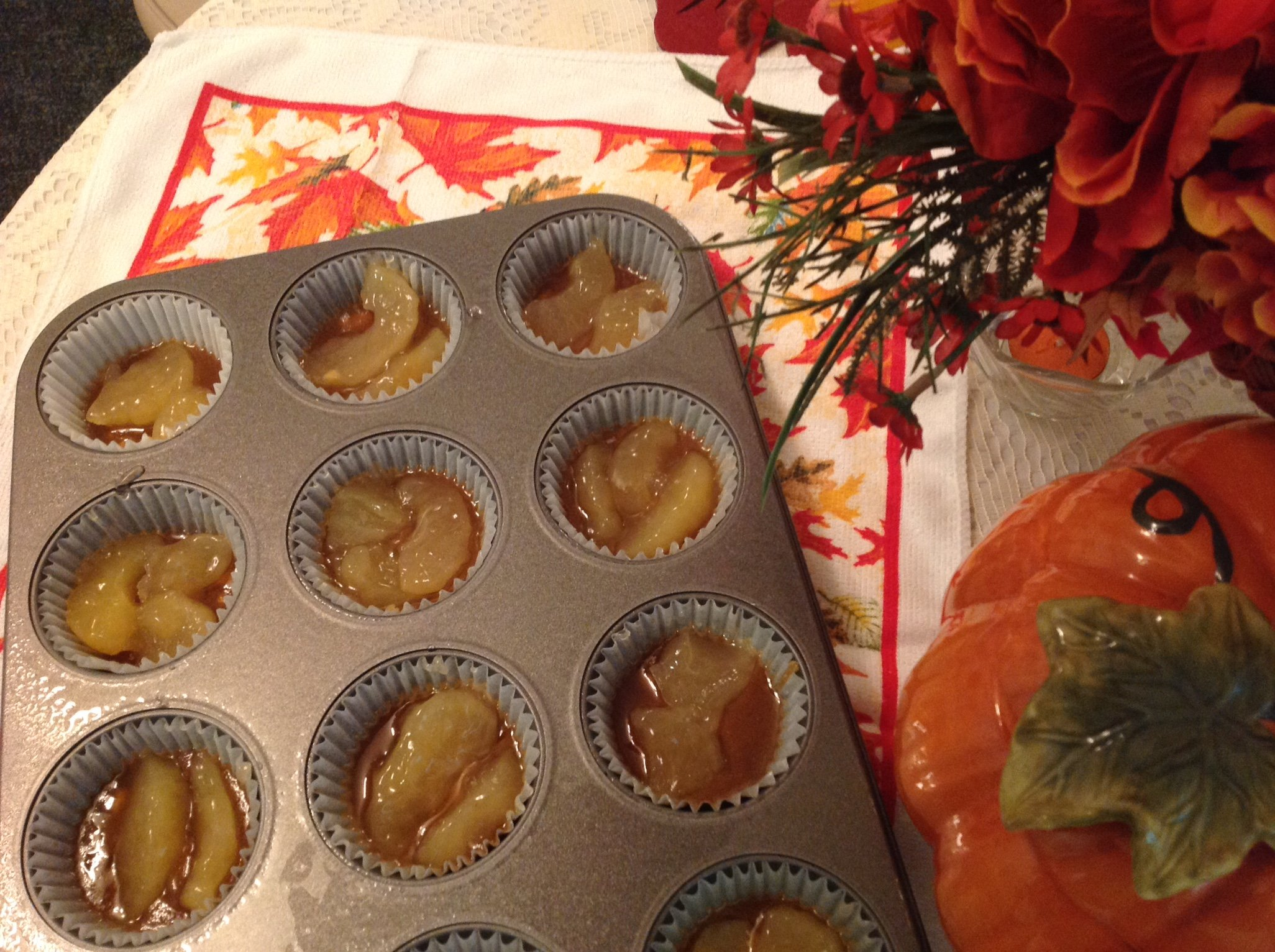 Caramel Apple Upside Down Cupcakes Recipe